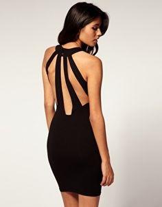 ASOS Body-Conscious Dress With Slash Back - StyleSays