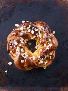 A couronne, or 'crown is a traditional French Christmas loaf.