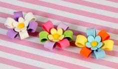 Colorful Cupcake Bows with Blossom Center | CaljavaOnline