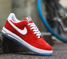 finest selection 07a86 6a15b Nike Lunar Force 1 14–Red Suede Nike Lunar, Sneakers Fashion, Sneakers Nike