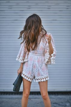 Let me start off by saying, this is probably the most beautiful romper I have ever laid my eyes on….