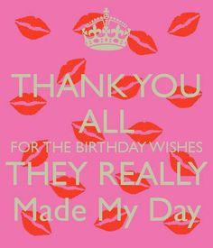 verjaardags bedankje