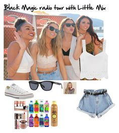 """Black magic radio tour with Little Mix"" by directioner-mixer-5sos ❤ liked on Polyvore featuring moda, Converse, Oakley, Casetify, Charlotte Tilbury y Sun Bum"