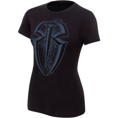 """Roman Reigns """"One Versus All"""" Women's Authentic T-Shirt ❤ liked on Polyvore featuring tops, t-shirts, wwe, merch, roman reigns, t shirts, black t shirt, classic fit t shirts, black cotton top and shirts & tops"""