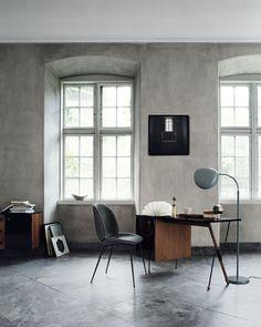 GUBI // Beetle chair, Grossman desk and Cobra floor lamp