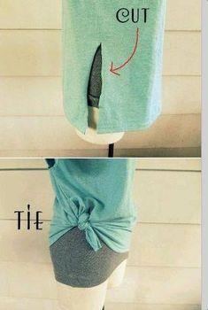 Good idea for large shirts DIY