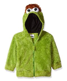 Oscar the Grouch Faux Fur Hoodie - Toddler & Kids