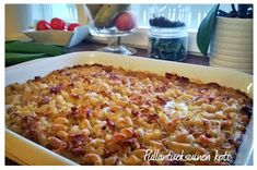 Herkullinen makaronilaatikko My Favorite Food, Favorite Recipes, Finnish Recipes, Good Food, Yummy Food, Toddler Meals, Sweet And Salty, Pasta Dishes, Gluten Free Recipes