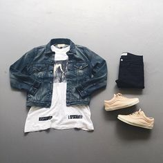 Shop our feed, hit link in bio. or : #WDYWTgrid by @zavr.l #mensfashion #ootd #outfit : #OffWhite #DenimSupplyRL : #ACNEStudios : #Vans #WDYWT for on-feet photos #WDYWTgrid for outfit lay down photos