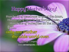 For one and only mother
