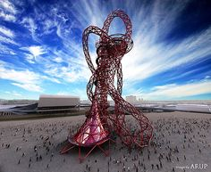 I've just got back from an announcement at City Hall about an exciting new tower, called ArcelorMittal Orbit, commissioned for London's Olympic Park.  (model by Anish Kapoor)