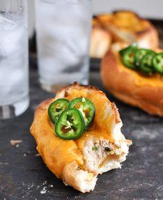 jalalpeno cheddar chicken meatball sandwiches
