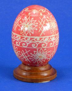 Polish Pysanky Egg Hand Painted Decorated Vintage Easter Blown Out Chicken Egg 20484 by JacksonsMarket on Etsy
