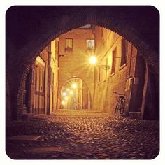 """""""Follow the lights"""" Via delle Volte, Ferrara - Instagram by thenicolapasquali"""
