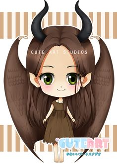 Young maleficent chibi by crowndolls on deviantART
