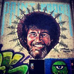 bob ross street art