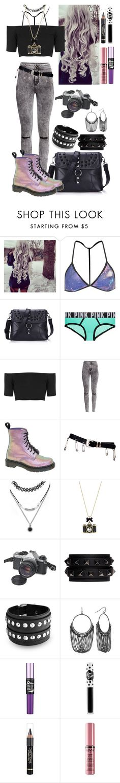 """""""still a WIP"""" by marieantointte ❤ liked on Polyvore featuring Topshop, H&M, Dr. Martens, Versace, Forever 21, Betsey Johnson, Pentax, Valentino, Bling Jewelry and Apt. 9"""