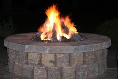 firepits, ceramic logs and lava rock