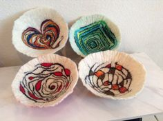 Fiber Artist Julia Maudlin's new small fiber bowl collection