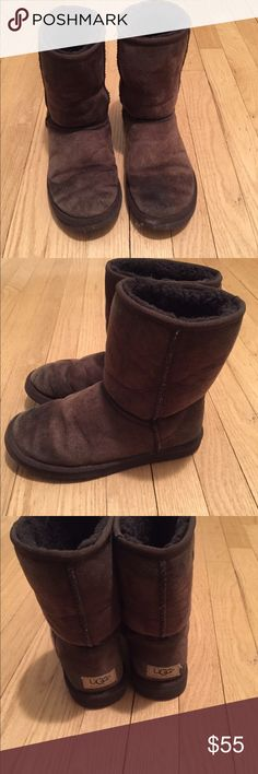 Ugg boots Ugg short boots in brown preowned and worn UGG Shoes Winter & Rain Boots