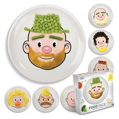 open invitation to interactive food fun, these full-sized plates found on Amazon