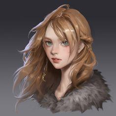 Fantasy Portraits, Character Portraits, Character Art, Female Character Inspiration, Fantasy Inspiration, Fantasy Women, Fantasy Girl, Elves Fantasy, Digital Portrait