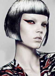 Futuristic hair and make up