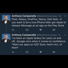 I wish (my beloved) Apple would just embrace the cross-platform movement...not sharing BBM was ultimately RIM's (Blackberry's) demise.  Give the world iMessage and FaceTime and iMovie and more as APK's for Android and let the world judge without the ransom.  #apple #google #pixel #iphone #ios #android #bbm #blackberry