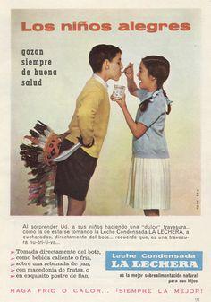 Leche condensada La Lechera. Los niños alegres gozan siempre de buena salud. 1959