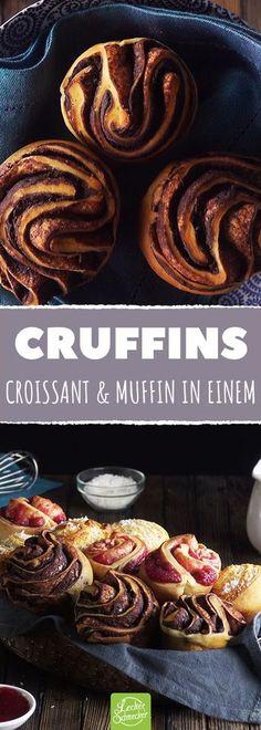 Wir mixen Muffin und Croissant. Das Resultat? TRAUM! #rezept #rezepte #cruffin #muffin #croissant #backen #feingebäck