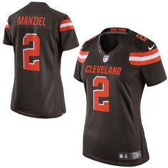 a62643a3be8 ... 2 Johnny Manziel Brown Elite NFL Jerseys Sale Cheap Johnny Manziel  Cleveland Browns Nike Womens Limited Jersey - Brown ...