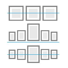 Reihen-Hängung Tipps & Tricks Ideen für Bilderwände #bilderrahmen #bilderwand