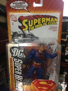 DC Super Heroes Superman (Man of Steel)(Black logo)