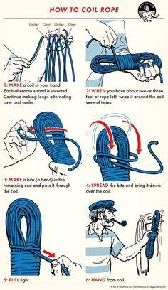 Survival Knots, Survival Tips, Survival Skills, Paracord Knots, Rope Knots, Art Of Manliness, Survival Life Hacks, Camping Survival, Camping Hacks