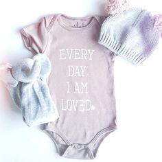 every day i am loved- organic baby onesie
