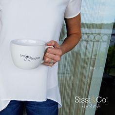 White on white has us feeling so bright! Shop this over-sized mug at sissiandco.com  Xoxo, Sissi & Co. #sissiandco #inspiredstyle #inspire #white #mug #drinkware #shop #shopping #onlineshopping #liketkit #style #fashion #blog #blogging #inspiration #positivevibes #happythoughts #love #happy #spreadjoy #joy