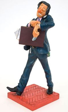 The Businessman Sculpture by artist Guillermo Forchino. Discover the entire comical art collection at AllSculptures.com