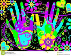 Stylised Hippie Hands Stock Photos - Image: 13730823