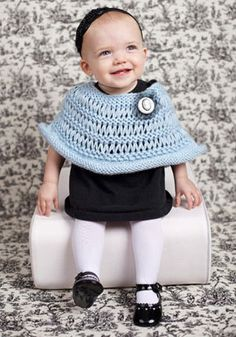 Hand Knit Toddler Poncho  Knit Toddler Poncho by KnuttinButYarn, $24.99