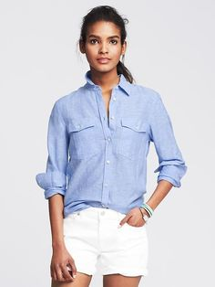 Soft-Wash Linen Cotton Shirt Product Image