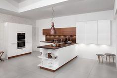 Design kitchen island: discover the kitchen peninsula! Peninsula Kitchen Design, Kitchen Island, Kitchen Cabinets, Design Kitchen, Kitchen Furniture, Furniture Design, Cuisines Design, Küchen Design, New Kitchen