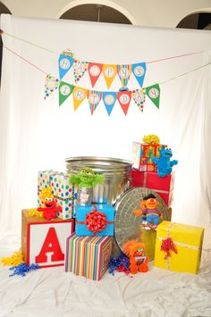 Sesame Street Birthday photo props - good for formals AND fun birthday party candids