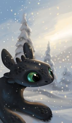 Toothless - How To Train Your Dragon Httyd Dragons, Dreamworks Dragons, Cute Dragons, Dreamworks Animation, Disney And Dreamworks, Toothless And Stitch, Toothless Dragon, Hiccup And Toothless, How To Train Dragon