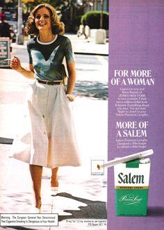 1975 Advertisement for Salem Cigarettes