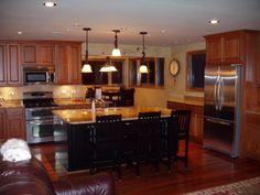 oak kitchen cabinets with dark island   ... oak-wood-kitchen-cabinet-terrific-kitchen-island-stool-for-kitchen