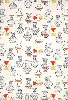 Vases pattern designed by Marian Mahler, 1950's