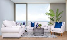 Create the ultimate coastal home by bringing in hues of white and blue to create a simple, organic look. Shop the look online or in-stores now. Lakeside Mall, Lounge Suites, Leather Lounge, At Home Furniture Store, Frame Crafts, 2 Seater Sofa, Coastal Homes, Fabric Sofa, Upholstery