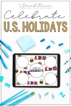 Teach your elementary class about U.S. holidays with this fun digital activities resource perfect for distance learning. Usa Holidays, National Holidays, Activities, Family Traditions, Social Studies, Distance, This Is Us, Study, Seasons