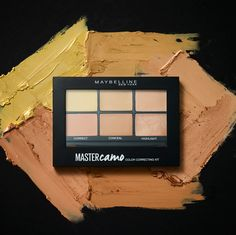 Color correct like a pro with the Maybelline Master Camo Color Correcting Kit.  The medium palette comes with color correcting tones to cover undereye circles and dark spots as well as concealer tones to even out complexion and highlight shades to add a fresh faced glow.