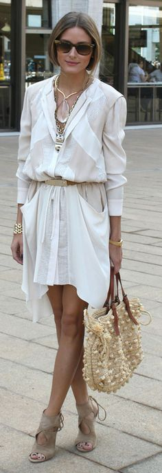 Perfect style for Olivia Palermo at the MBFW Spring 2014